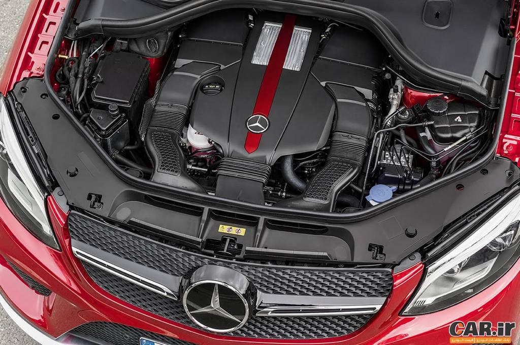 مرسدس بنز GLE -نمای موتور
